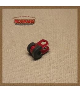 Abrazadera goma-aluminio rojo 6mm