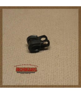 Abrazadera goma-aluminio negro 6mm