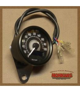 Velocímetro Daytona negro 200 km/h