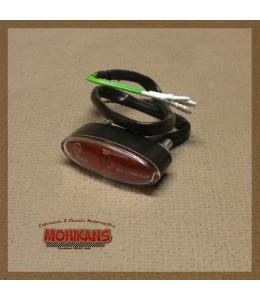 Ultra mini piloto trasero oval rojo