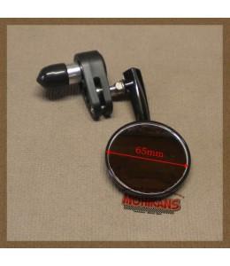 Espejo de puño negro 65mm derecho