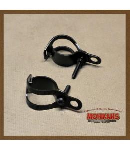 Soportes de faro acero negro 30-39mm