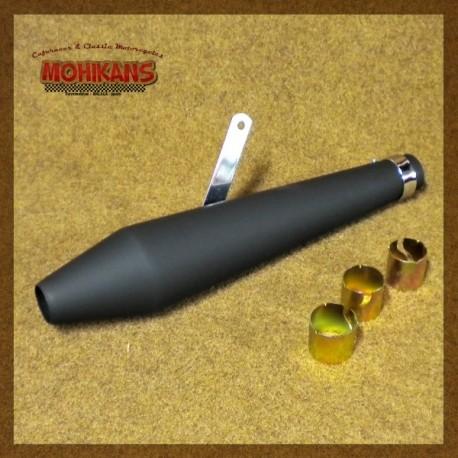 Megáfono tipo Peashooter negro mate 48cms