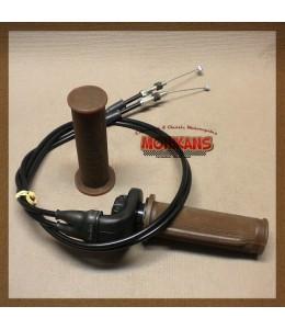 Puño de gas con cables