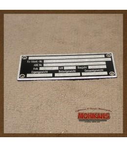 Placa de identificación de chasis