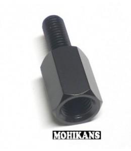 Adaptador negro para espejo 8 a 10mm der./der.