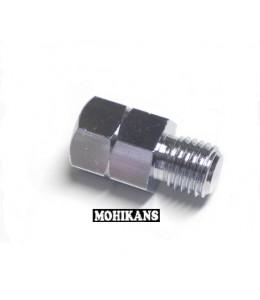 Adaptador cromado para espejo 10 a 10mm corto izq./der