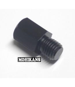 Adaptador negro para espejo 8 a 10mm corto izq./der.