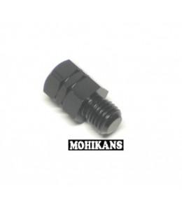 Adaptador negro para espejo 10 a 10mm corto der./izq.