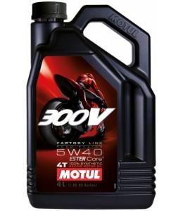 Motul 300V aceite motor sintético 5W40 4T 4 litros