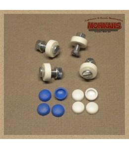 Kit de tornillos sujeta-matrícula blanco