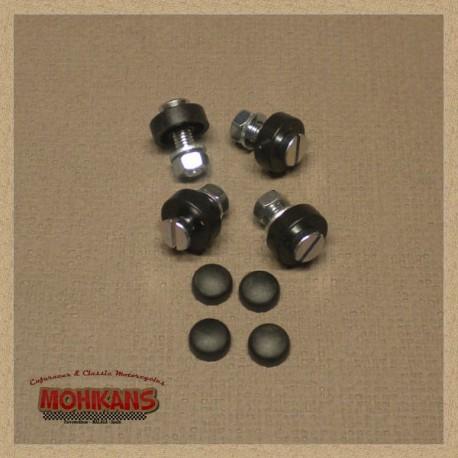 Kit de tornillos sujeta-matrícula negro