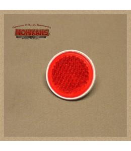 Catadióptrico redondo rojo con tornillo