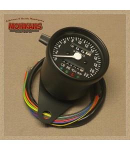 Velocímetro multifunción 220 km/h negro-mate