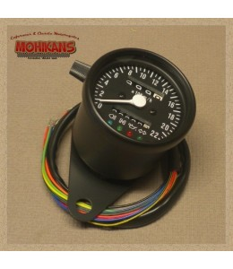 Mini velocímetro multifunción 220km/h negro-mate