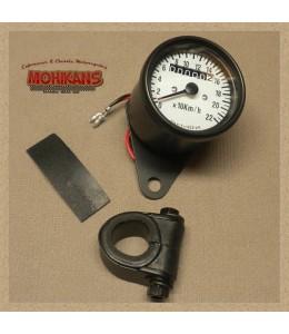 Mini velocímetro sin parcial fondo negro