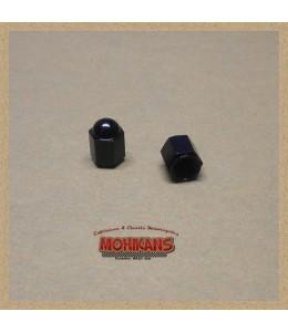 Tapones de válvula alu-negro
