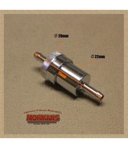 Filtro de gasolina aluminio-cromo 8mm/8mm
