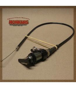 Cable tirador aire 640mm con abrazadera