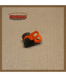 Abrazadera goma-aluminio naranja 6mm