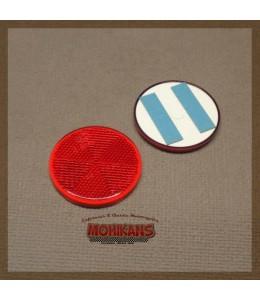 Catadióptrico redondo 60mm rojo adhesivo