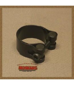 Abrazadera tubo de escape negra 35mm
