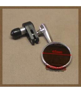 Espejo de puño alu pulido 65mm derecho