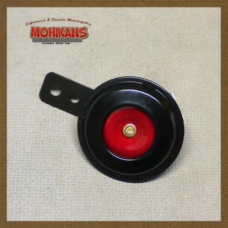 Mini-bocina 70mm 12v negro-rojo