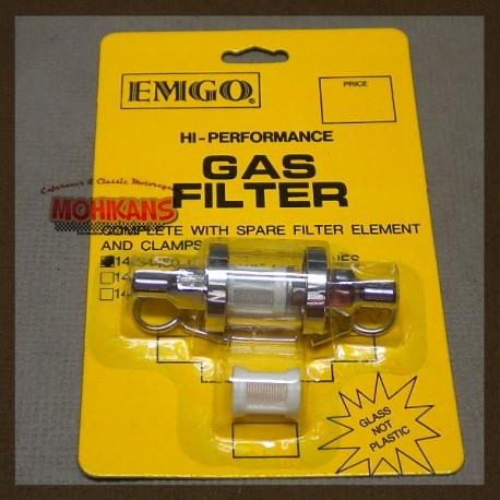 Filtro de gasolina cristal 9mm/9mm