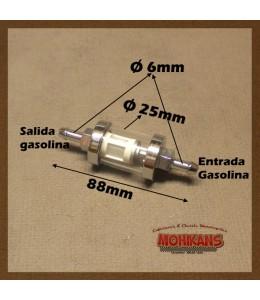 Filtro de gasolina cristal 6mm/6mm