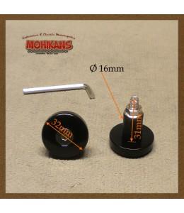 Mini-contrapesos Alu negro redondo