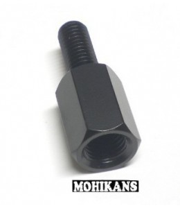 Adaptador para espejo negro 8 a 10mm der./der.