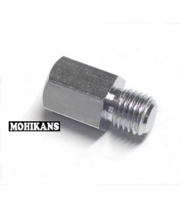 Adaptador cromado para espejo 10 a 10mm corto der./der.