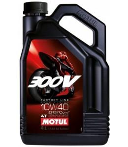 Motul 300V aceite motor sintético 10W40 4T 4 litros