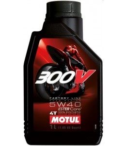 Motul 300V aceite motor sintético 5W40 4T 1 litro
