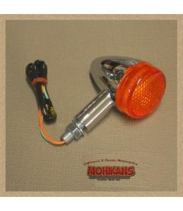 Mini-intermitente Bullet cromado del/der tras/izq