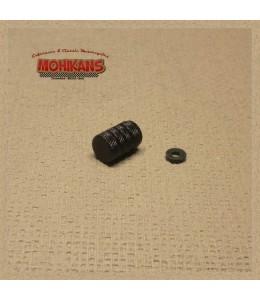 Tapón de válvula Alu-negro hermético