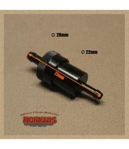 Filtro de gasolina carcasa aluminio negro 8mm/6mm